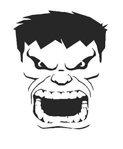 Templates for hulk google search projects to try for Incredible hulk face template