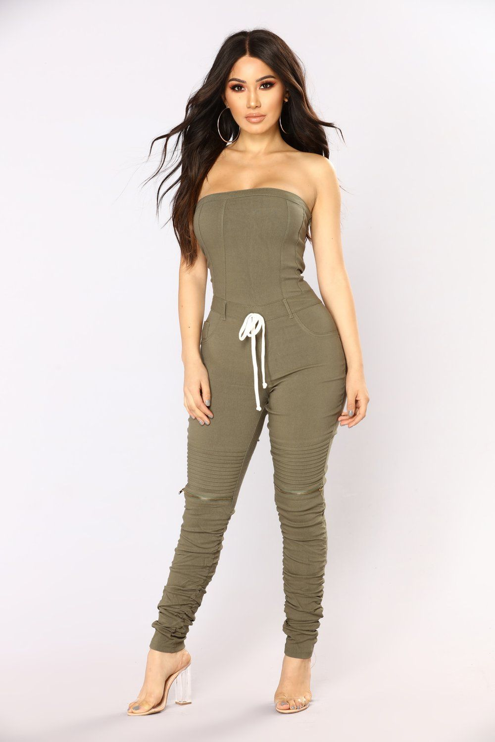 4b68a01f5f Isabelle Tube Jumpsuit - Olive in 2019