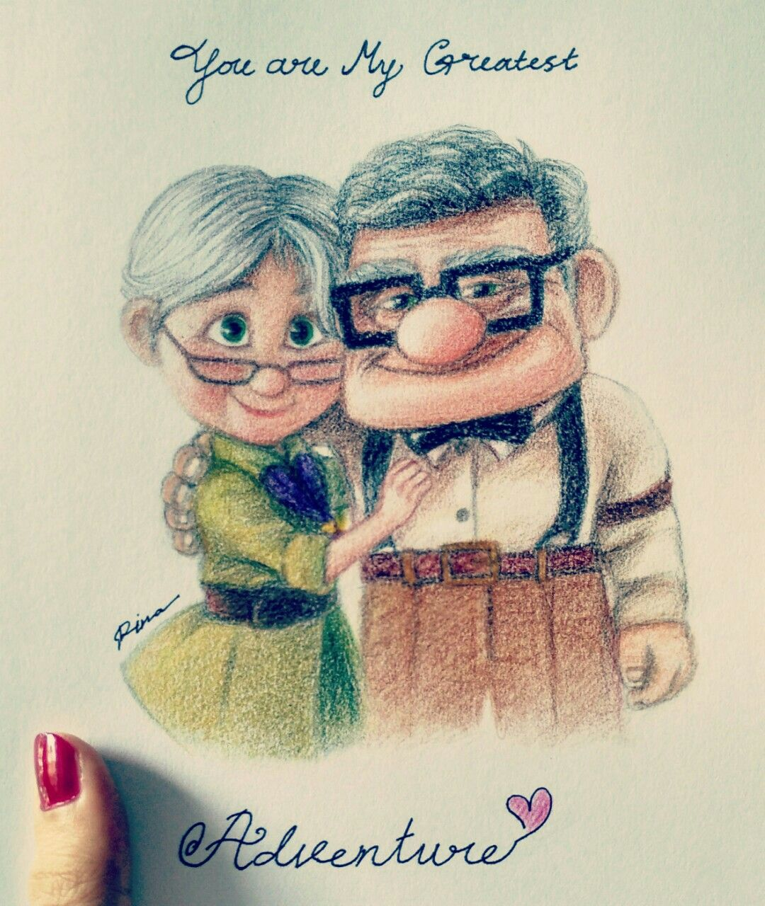 Up Carl And Ellie The Story Is So Sweet So I Decided To Draw Them