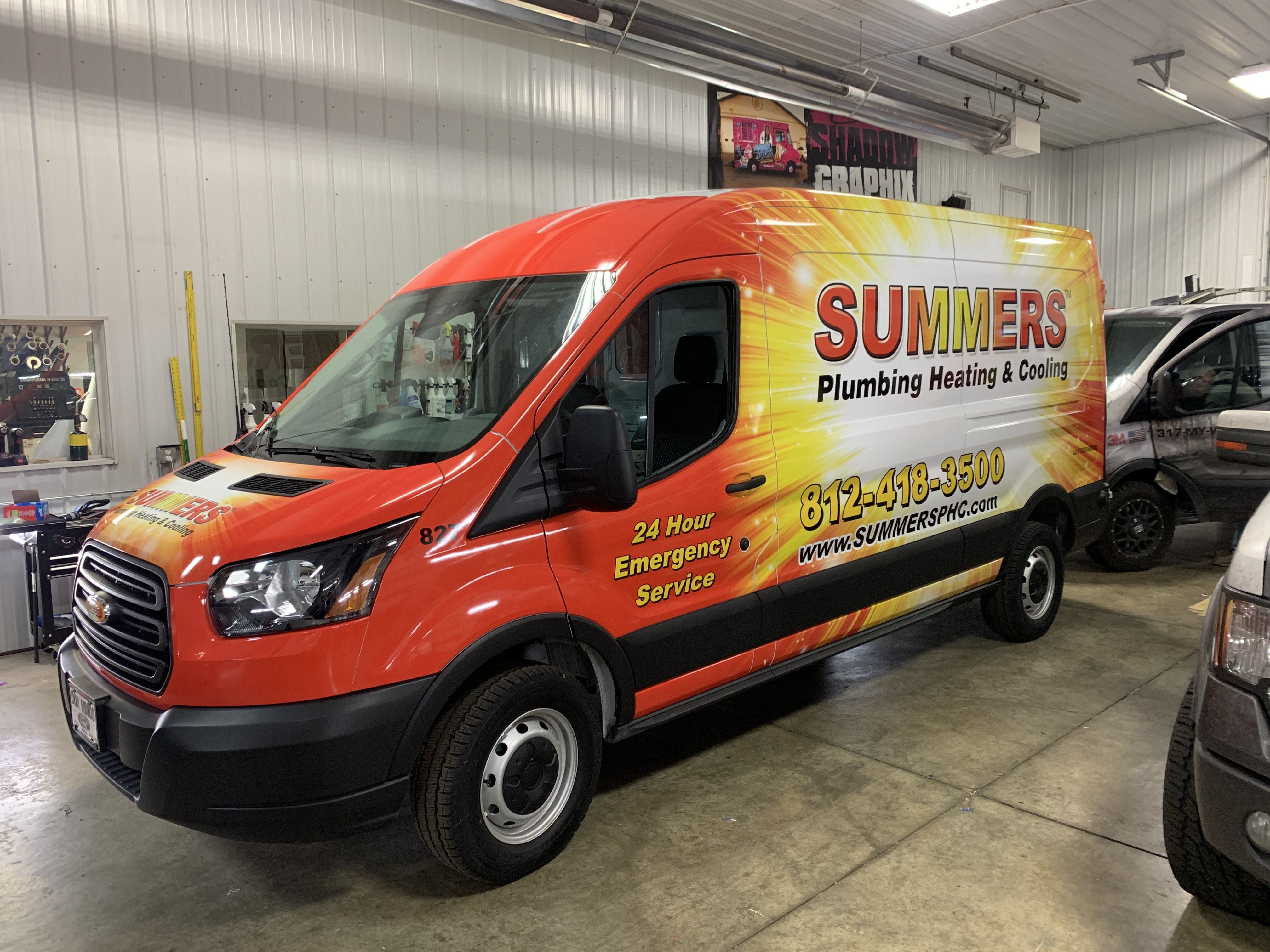 Tranist Wrap For Summers Heating And Cooling Vinyl Wrap Van