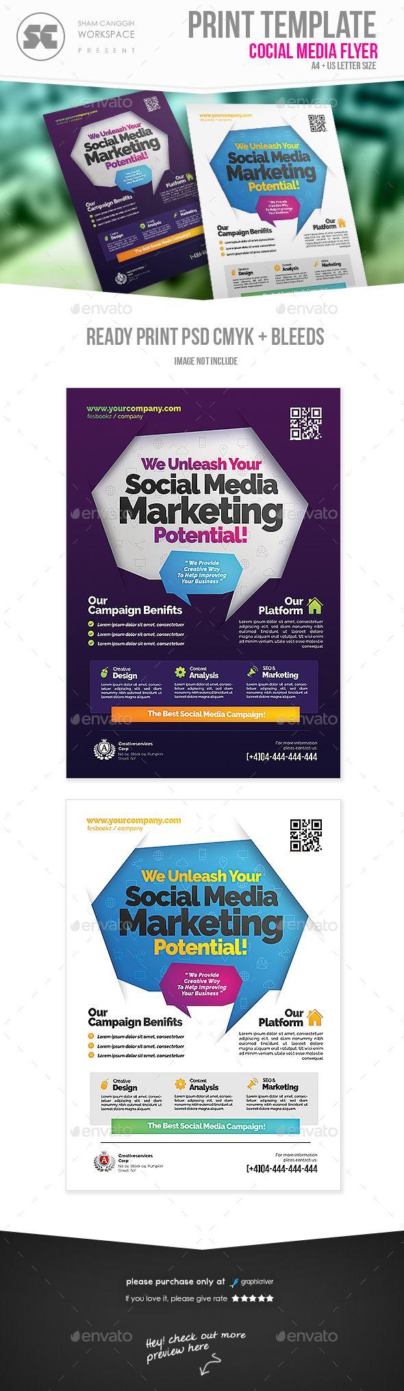Social Media Campaign Flyer Flyer Template Social Media Template