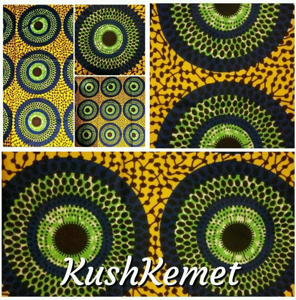 100% Cotton Dutch Hollandaise African Print Fabric Retro Craft/ Clothing 2 Yards in Crafts, Fabric | eBay