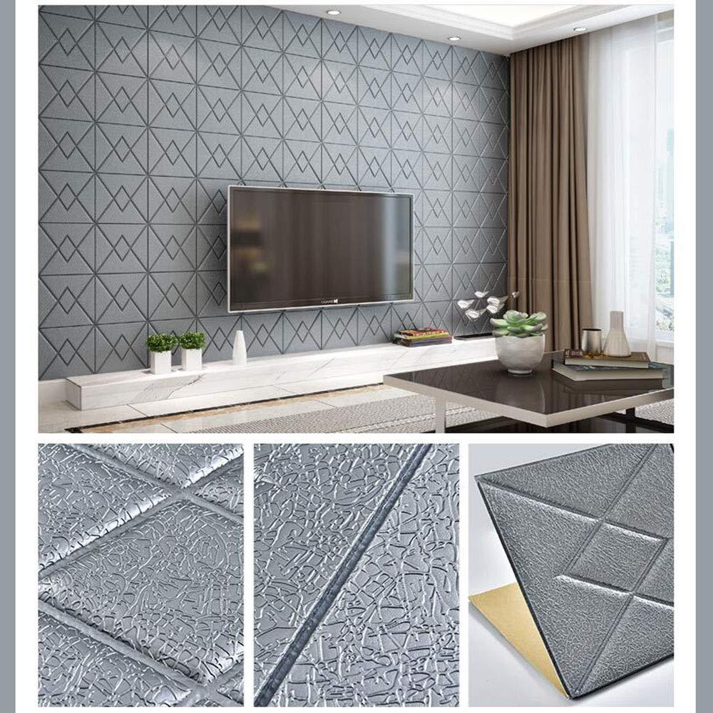Amazon.com: LY-Décor White Brick 3D Wall Panels Peel and ...
