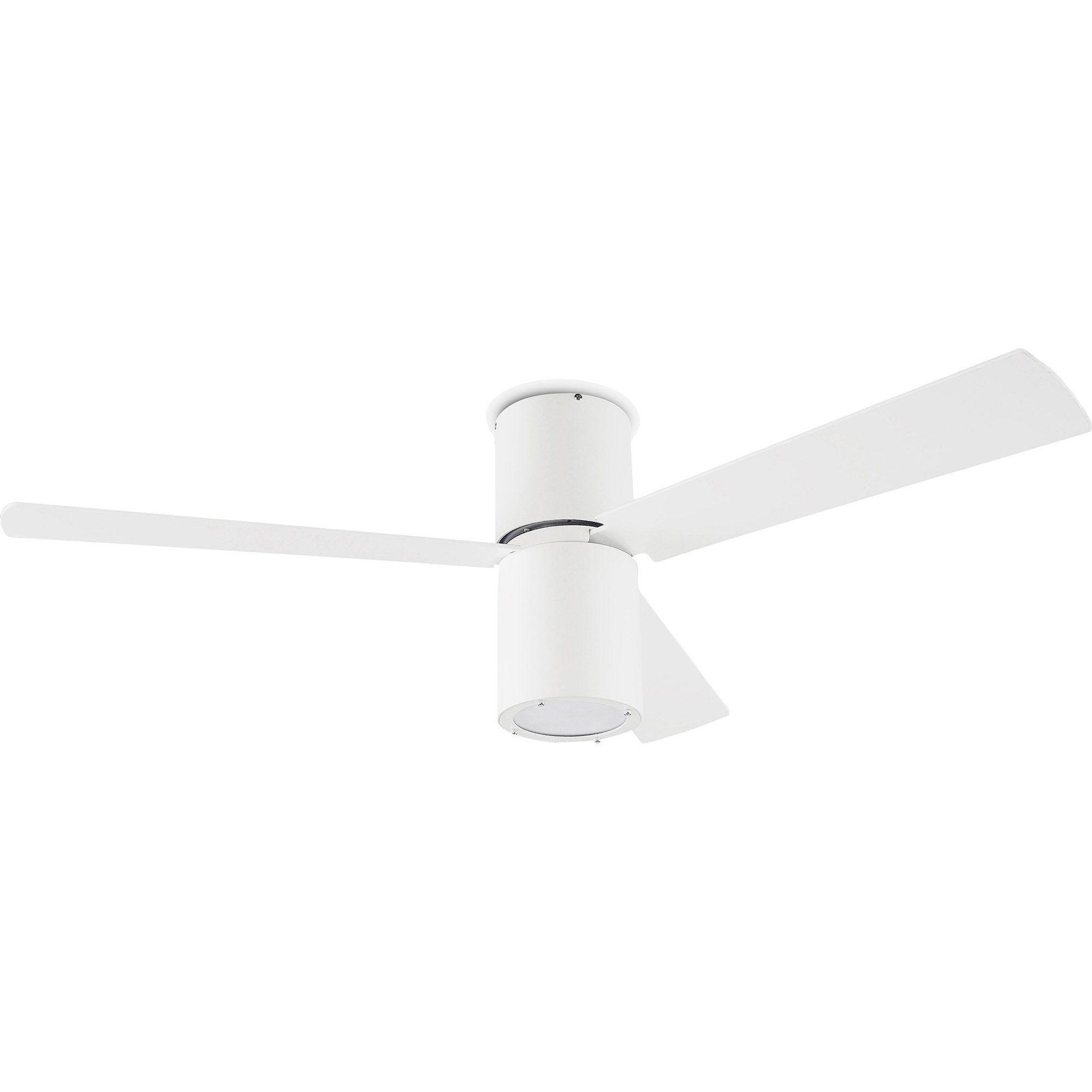 Ventilateur Formentera Leds C4 Gris Argent Blanc 1x E27 Max 23 W Ventilateur Gris Et Blanc