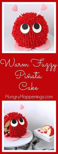 Photo of Warm Fuzzy Piñata Cake and a Pink Marshmallow Meringue Pie- Valentine's Day Sweets | Hungry Happenings – Ostern – Apfel Kuchen