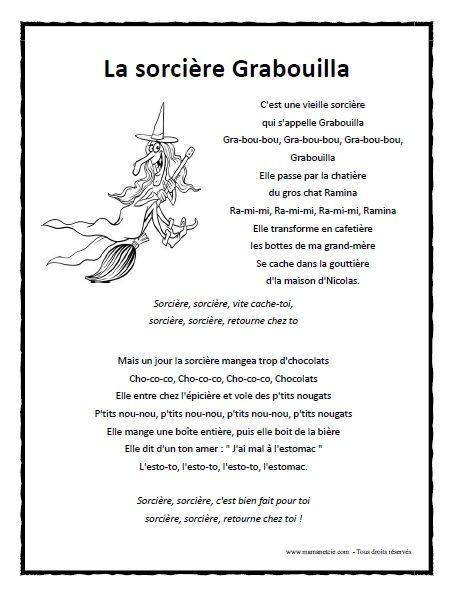 La Sorcière Grabouilla à Imprimer En .pdf