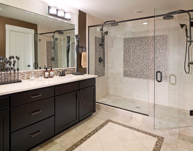 Master Bath With Just Shower toll brothers - designer finishes are shown in the master bath