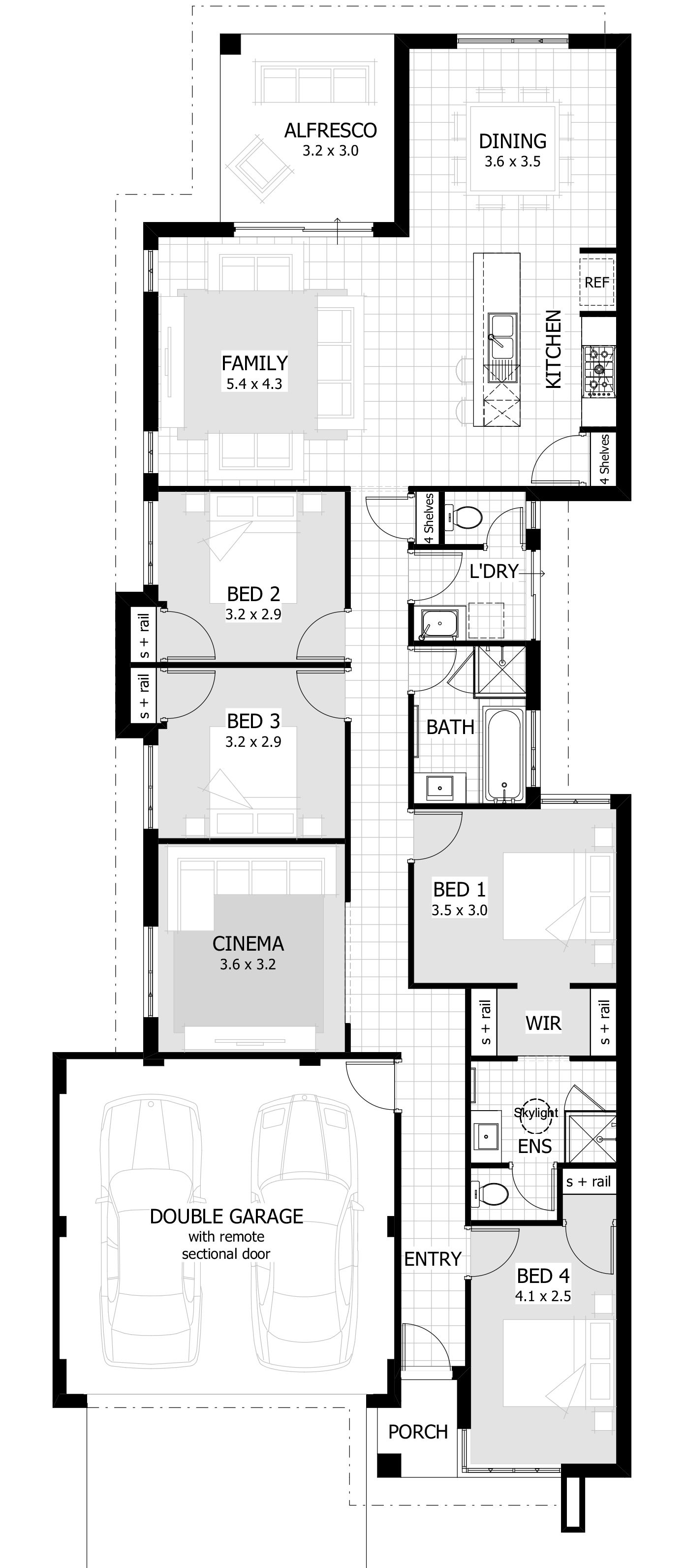 Lawton 4 Bedroom 2 Bathroom Home Design
