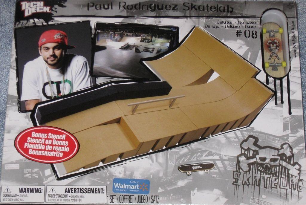 New SEALED Tech Deck Paul Rodriguez Skatelab 08 Deluxe