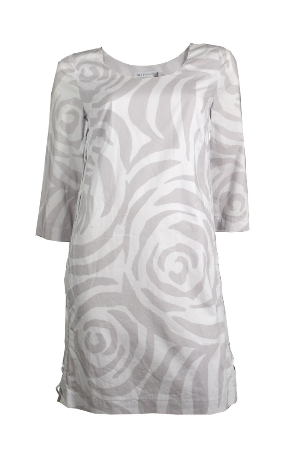 ♥ SEE BY CHLOE ♥ ROBE IMPRIMEE LACEE SUR LES COTéS T. 36 via LES COCOTTES. Click on the image to see more!