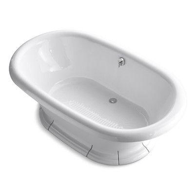 "Kohler Vintage 72"" x 42"" Soaking Bathtub Finish: White"