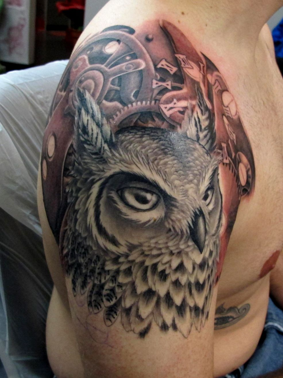 chris black eye candy tattoo new orleans | Awesome Ink | Owl tattoo ...