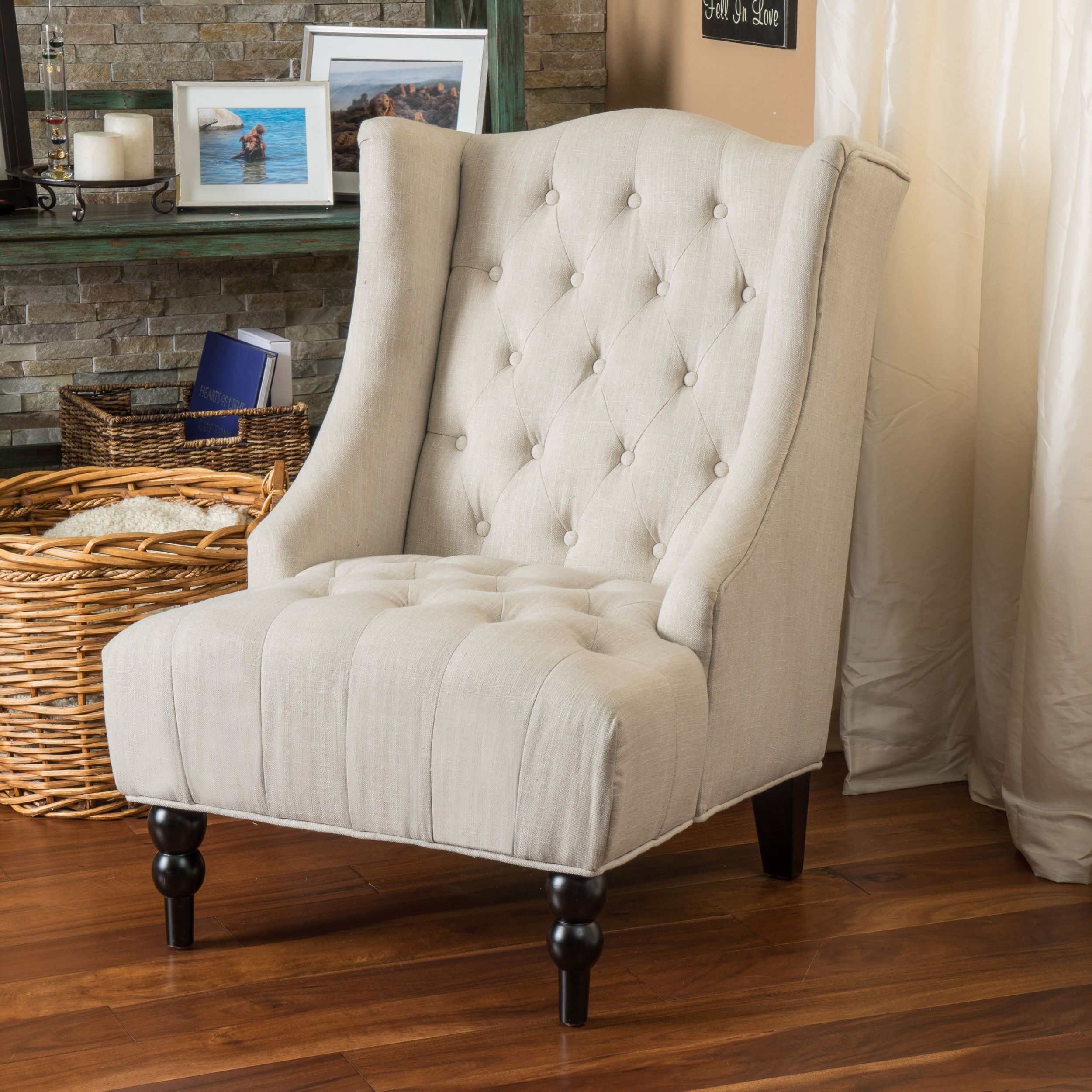 Toddman Fabric High Back Club Chair By Christopher Knight Home By  Christopher Knight Home