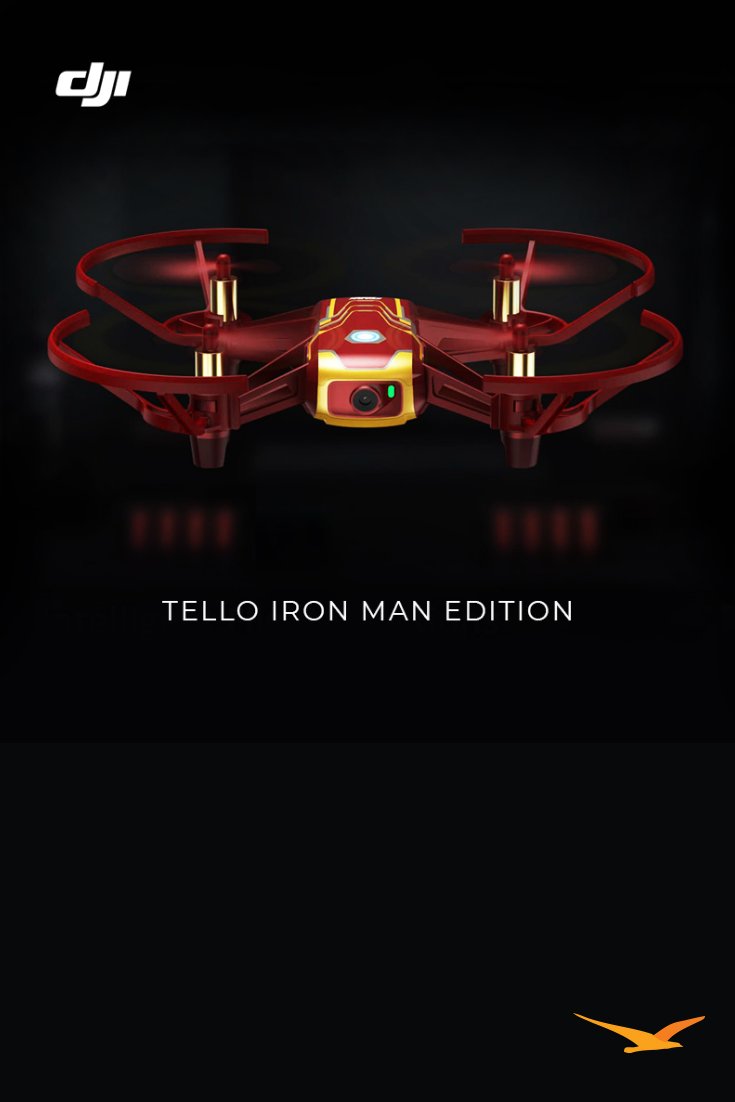 Tello Quadcopter Iron Man Edition Beginner Drone VR HD Video - CP TL