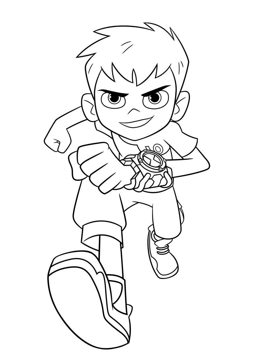 33 Ben 10 Coloring Pages For Kids More Printable Pictures On Babyhouse Info Running Ben Tennyson Cartoon Coloring Pages Coloring Pages Free Coloring Pages