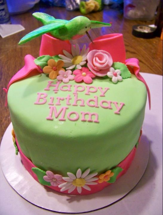 happy birthday mom cake cakes cake birthday cake hummingbird cake
