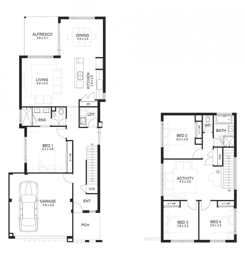 Houseplans Narrow House Plans With Front Garage For Wonderful Plan On Awesome Longmall Block Lot Home Narrow House Plans Floor Plans Bungalow House Floor Plans