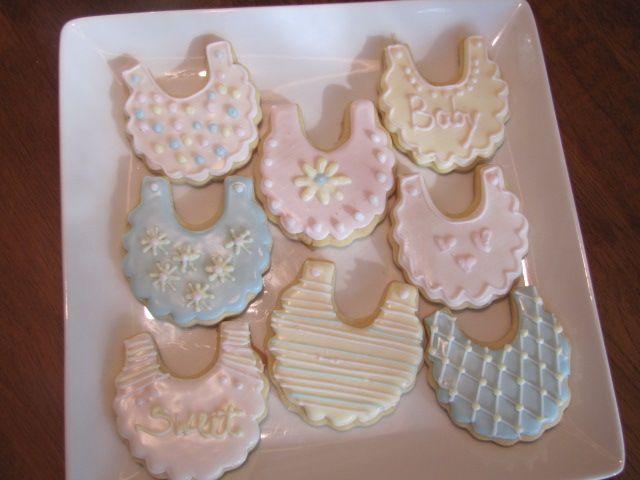 Baby Bib Cookies Baby Shower Cookies Baby Shower Cakes Diy Cake