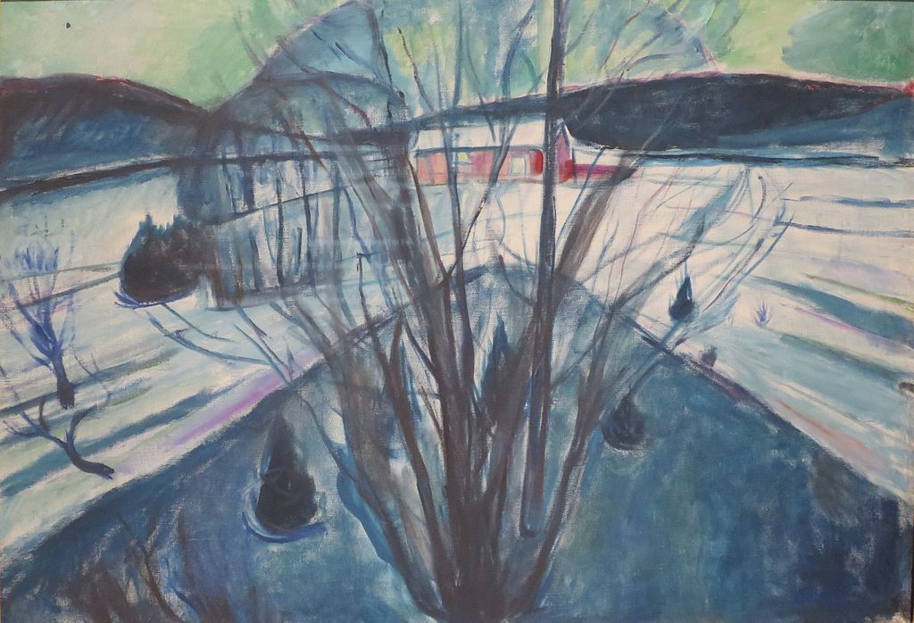 Winter Night1930-31The Art Museums in Bergen, Norway. Bergen Art Museum (Stenersen's Collection) - Edvard Munch