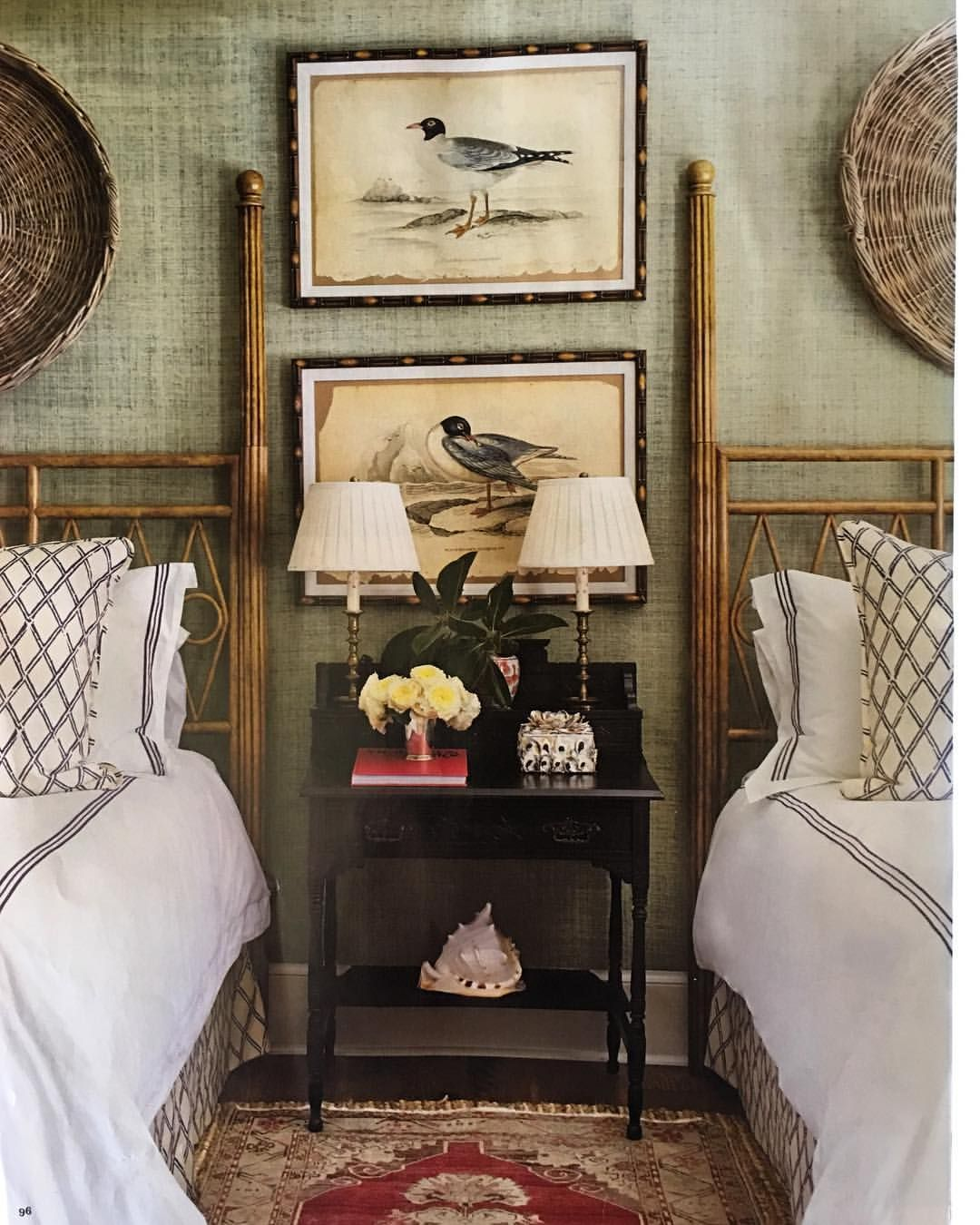 A Yummy Place To Take A Sunday Afternoon Nap Which I Ve Been Thinking About Taking Since I Woke Up The Simple Bedroom Twin Beds Guest Room Cheap Home Decor #twin #bed #in #living #room