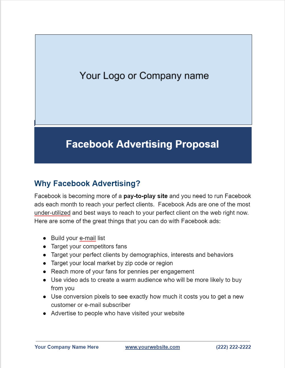 Facebook Ads Proposal Template Facebook Advertising Secrets Inside Advertising Proposal Template 10 Prof Proposal Templates Facebook Advertising Facebook Ad