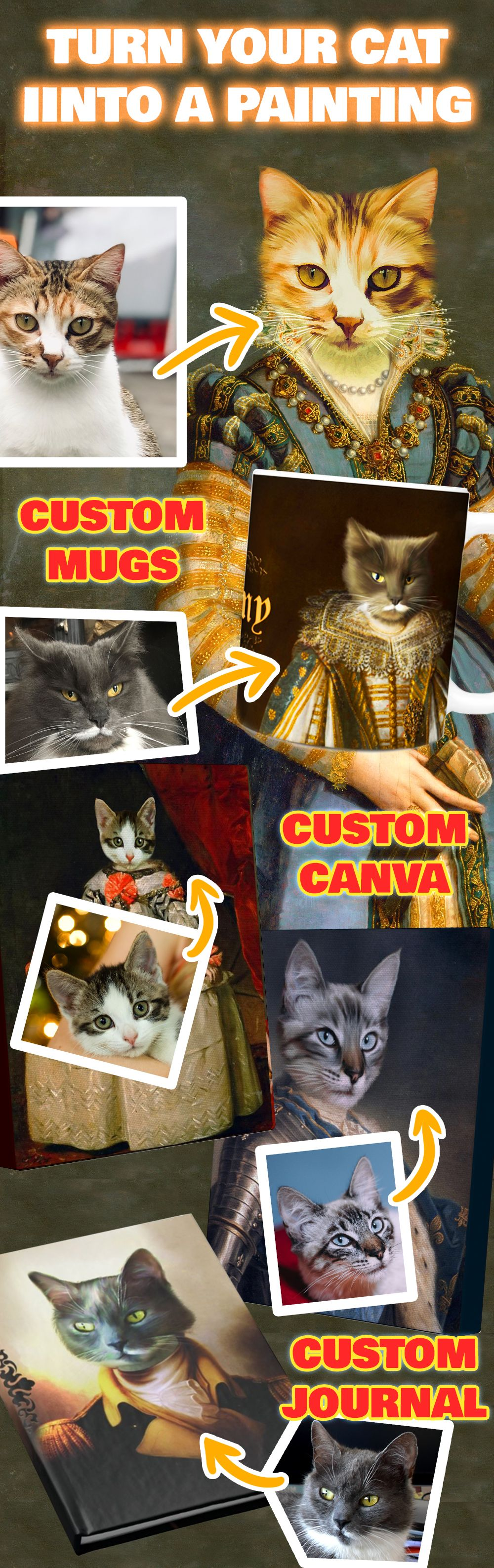 Personalized Cat Paintings