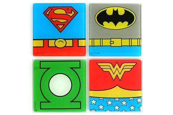 superhero coasters superhero coasters and wonder woman
