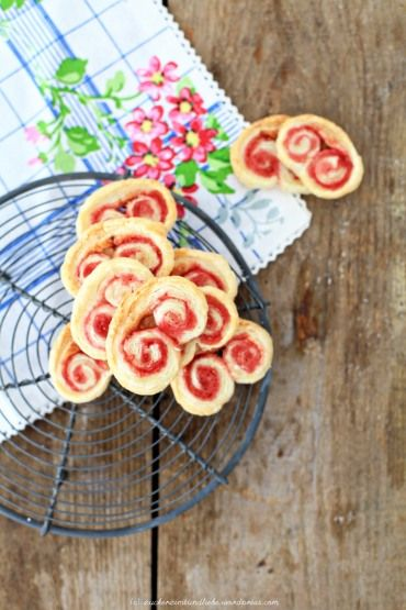 raspberry sugar palmiers