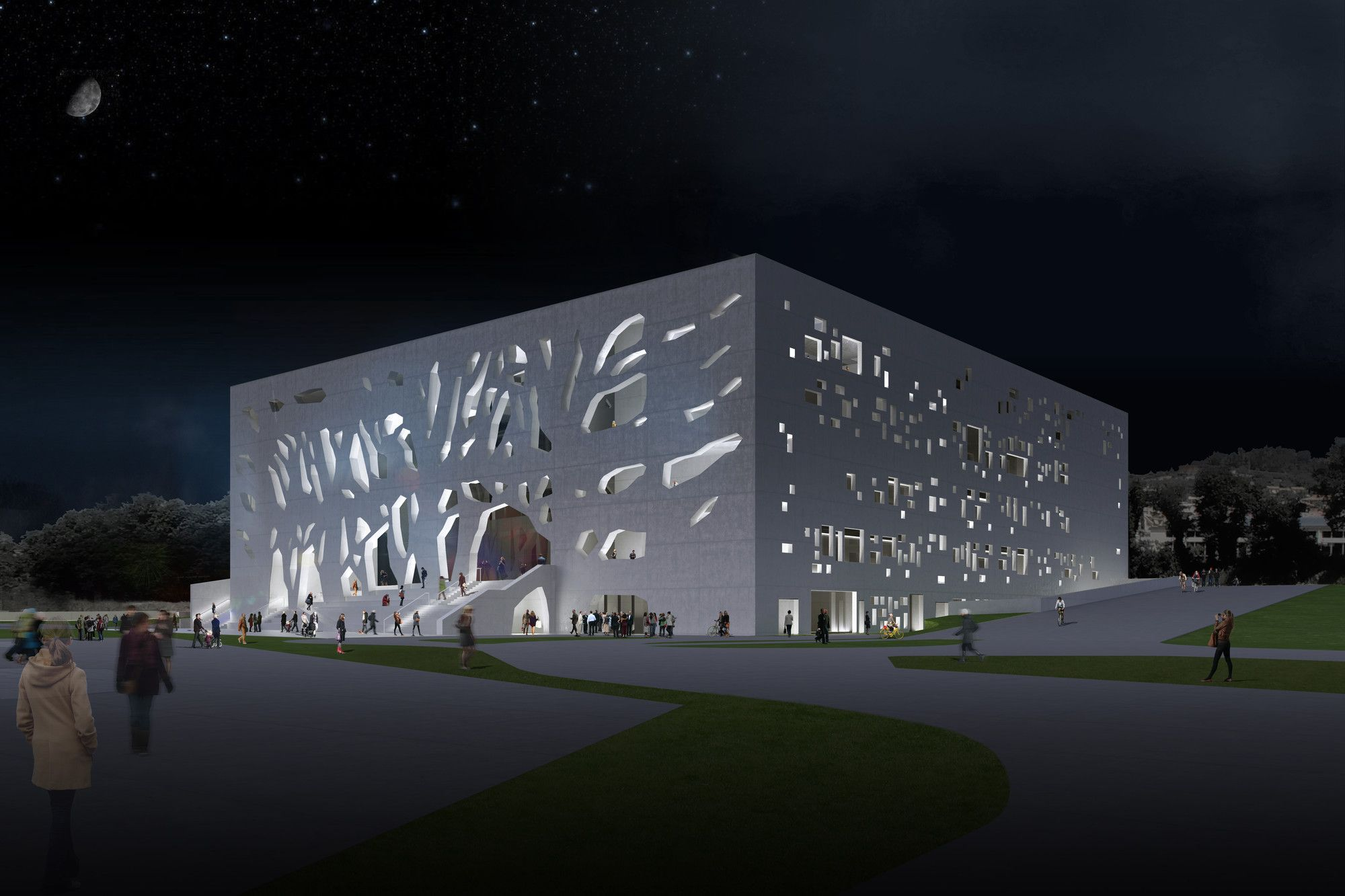 Bernard Tschumi Presents Final Design for Grottammare Cultural Center