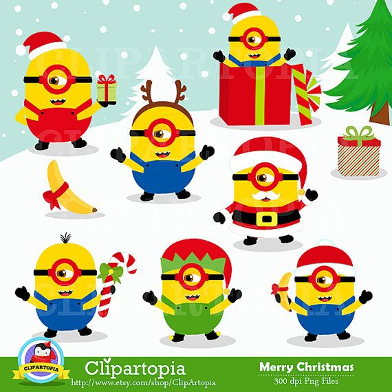 Etsy Products By Clipartopia Catch My Party Minion Christmas Minion Characters Cute Minions