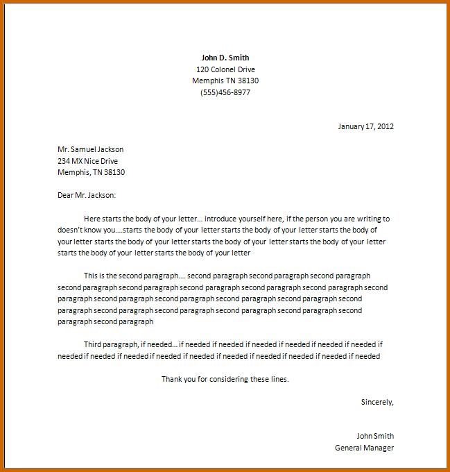 Negative Business Letter Write Formal Letterg Resume Writing