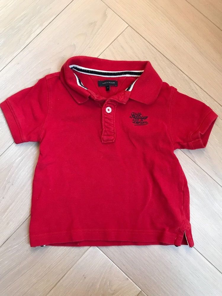 cd0ad214 TOMMY HILFIGER DENIM BABY RED POLO SHIRT SIZE 2T / 2 Yrs | Fashion ...
