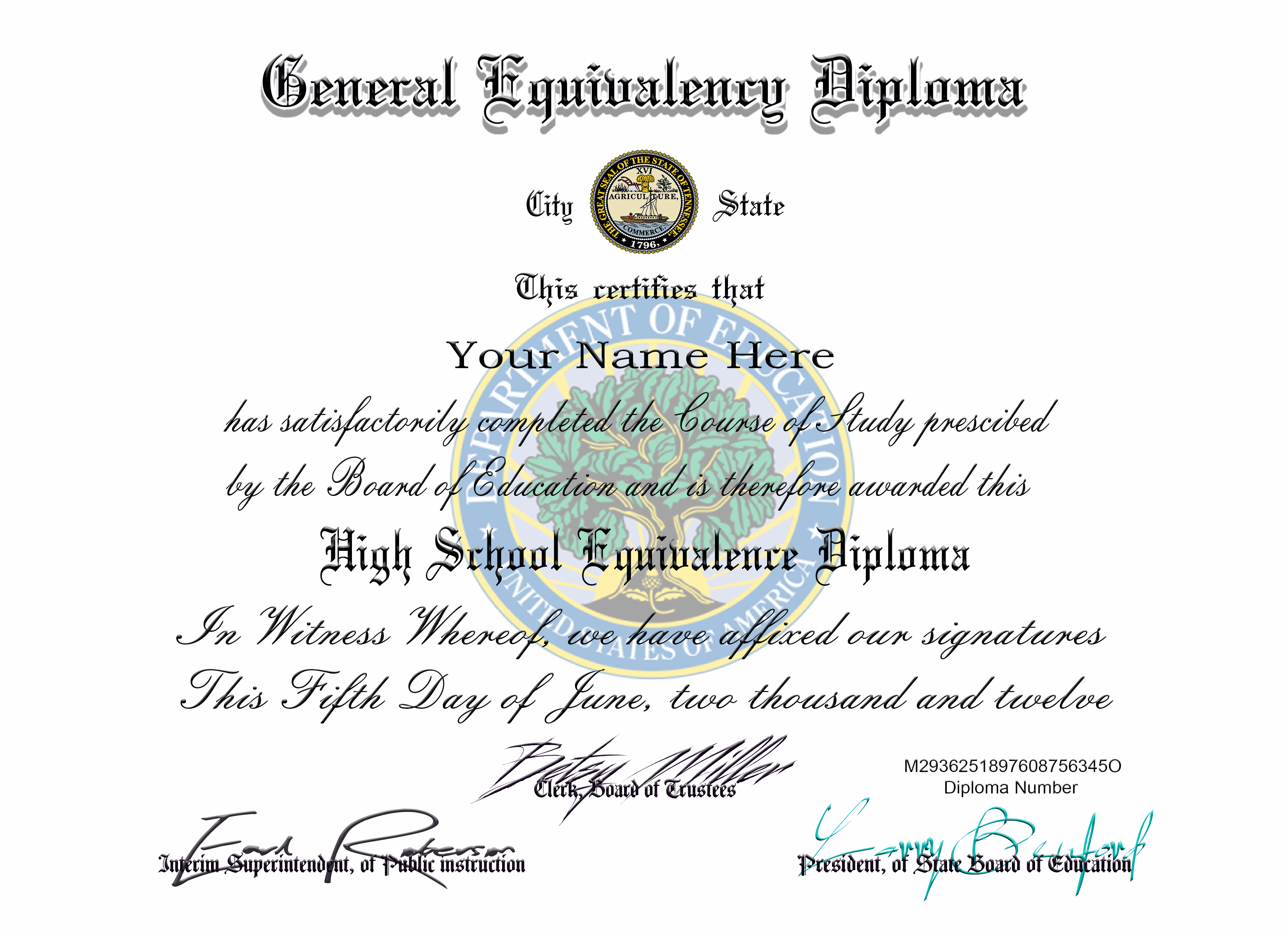 Ged Diploma Professional Layouts Created From Real Certificates