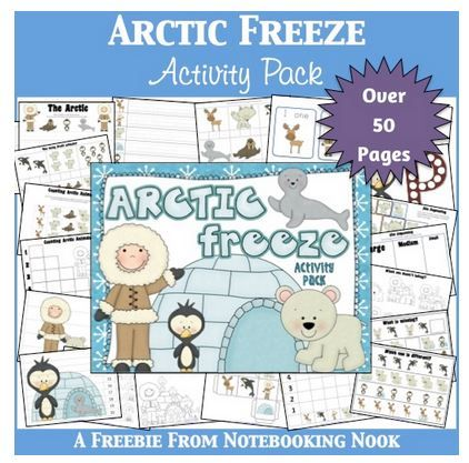 Free Arctic Freeze Activity Printables Pack for Kids | Free Homeschool Deals ©