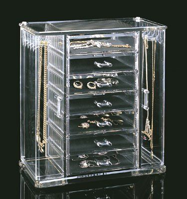 Acrylic Deluxe Jewel Box 7Drawer Jewelry Chest With Necklace