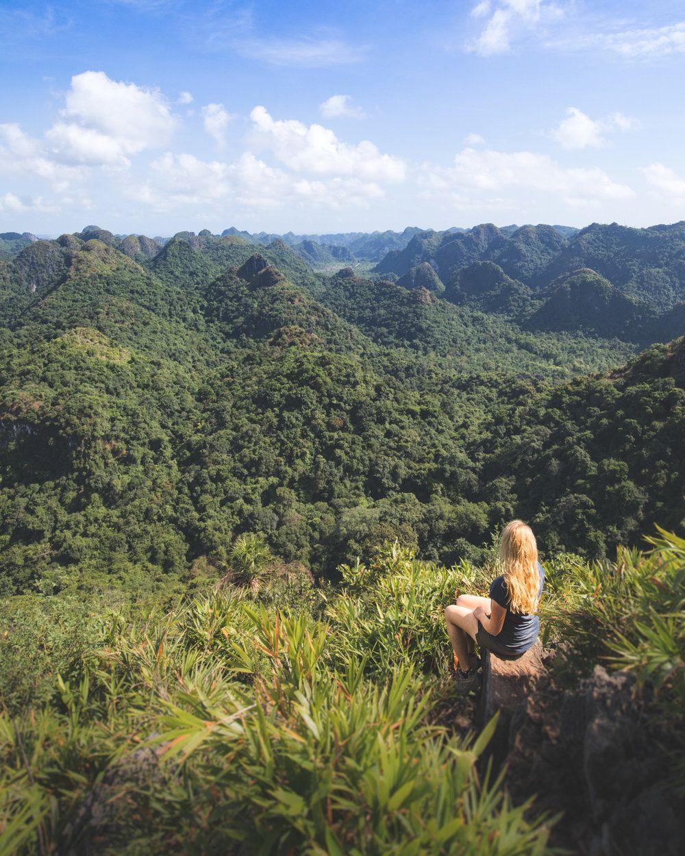 The stunning view from Ngu Lam Peak on Cat Ba Island   Vietnam ...