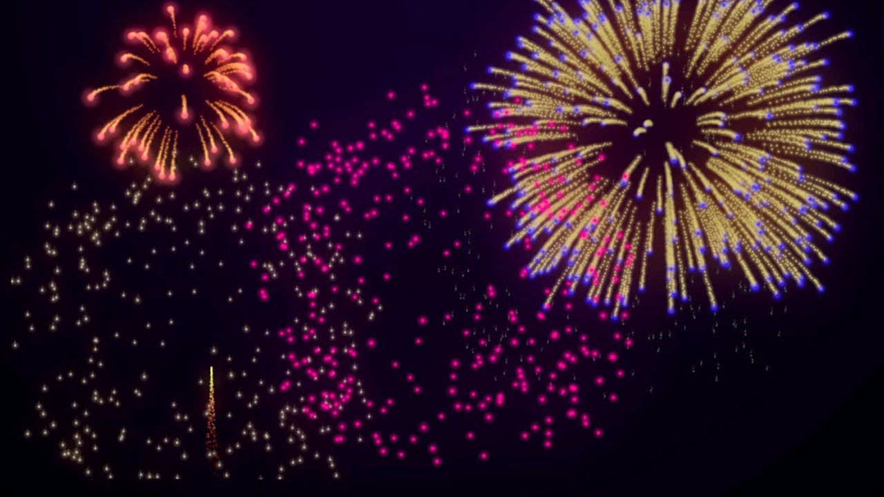 Free Fireworks Background Loop for 4th of July /New Year's
