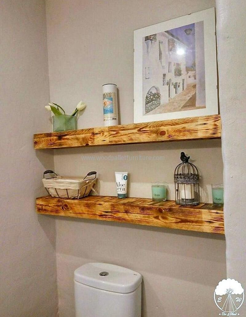 pallets bathroom shelving idea 1 | Projects to try | Pinterest ...