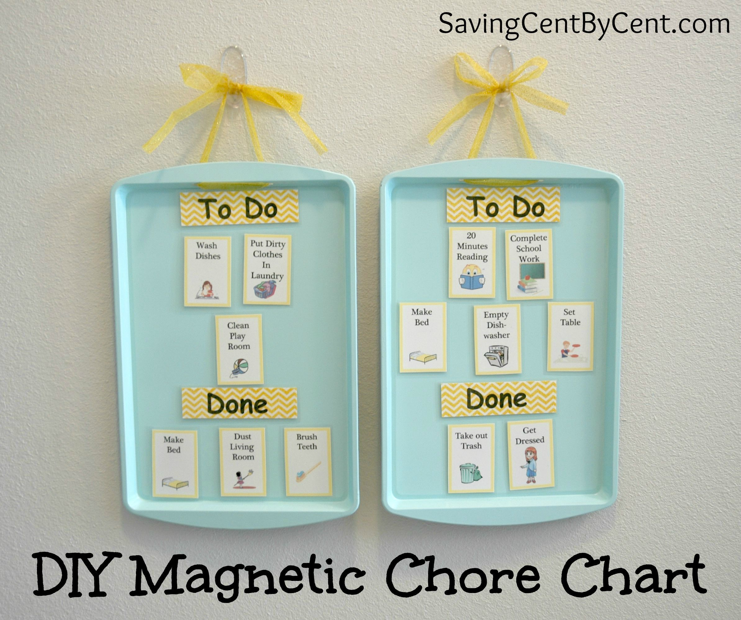 Diy magnetic chore chart chart frugal and frugal living
