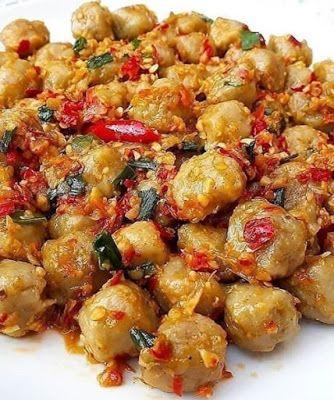 Pentol Mercon Resep Masakan Makanan Pedas Makanan Dan Minuman