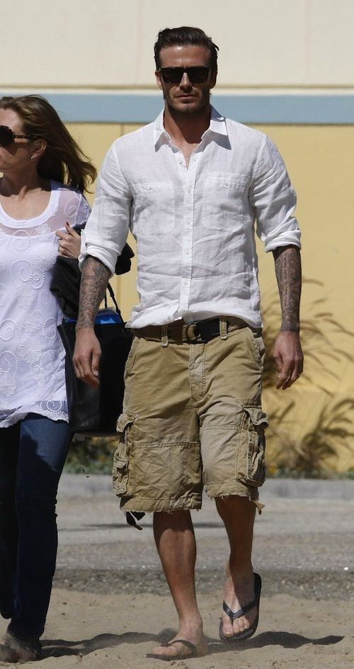 Cargo shorts and a white button down can be perfect for a hot ...