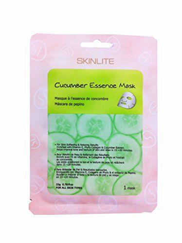 4 Packs of SKINLITE Cucumber Essence Mask for Skin Softening