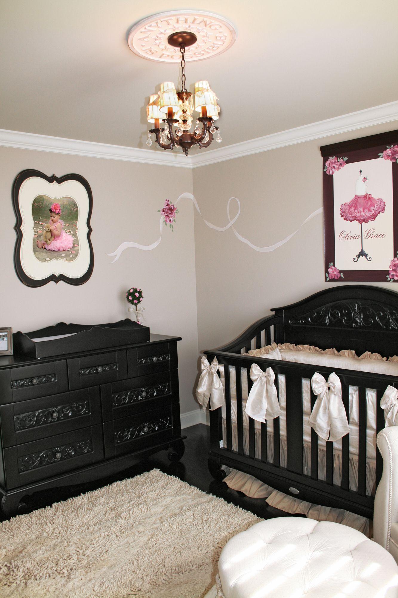 French Parisian Nursery Project Baby Girl Pink Dark Furniture