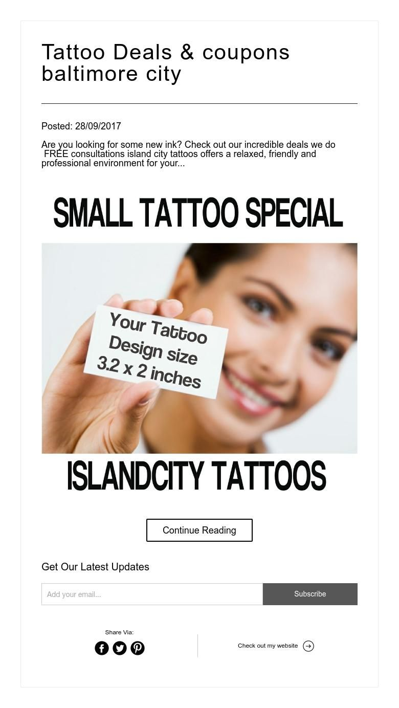 Tattoo deals coupons baltimore city best tattoo shops