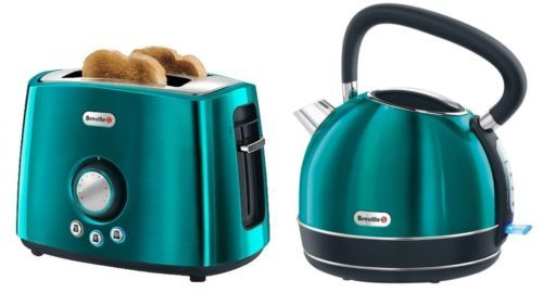 teal kitchen appliances table with high chairs breville traditional kettle toaster set vtt366 vkj693 ebay