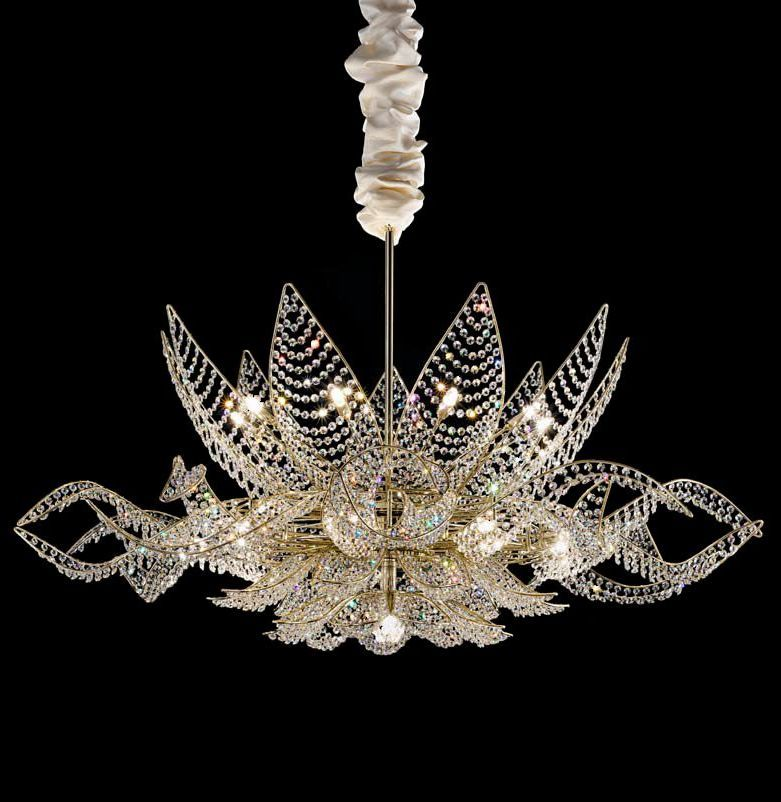 Small Murano Crystal Chandelier: Murano Glass Pearl Or Swarovski Crystal Chandelier. Very