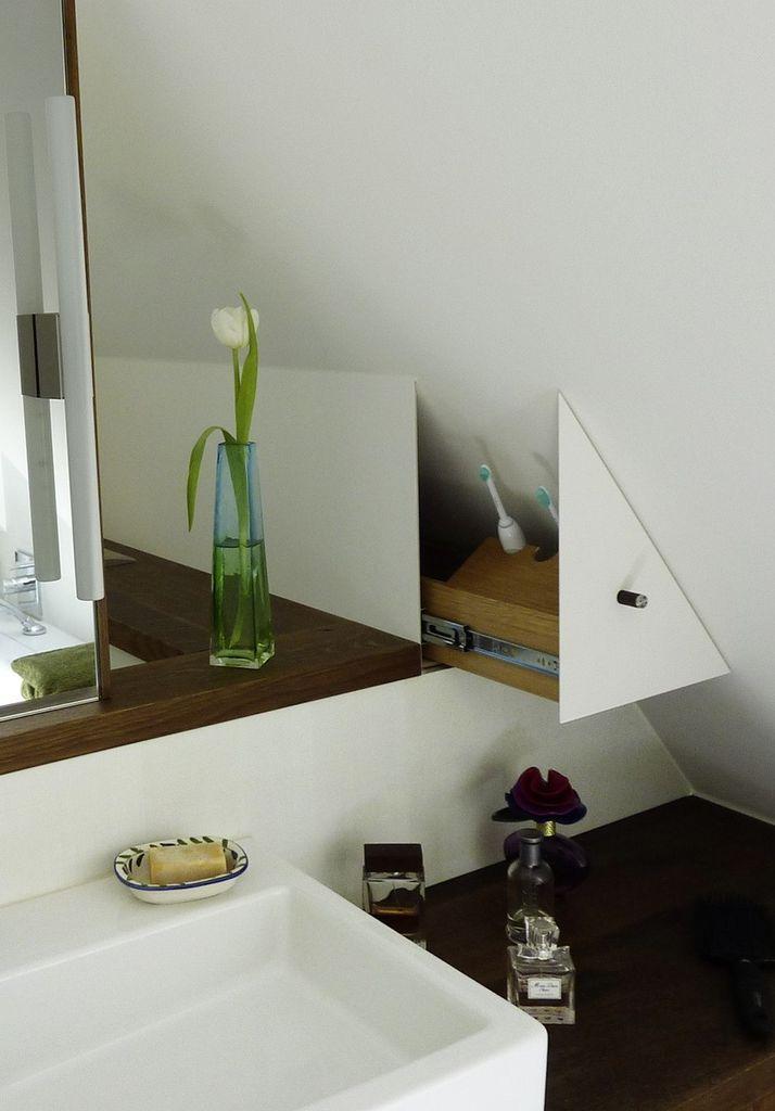 Der Dachschräge ein Schnippchen schlagen - SBZ Bad Pinterest - badezimmer mit schräge