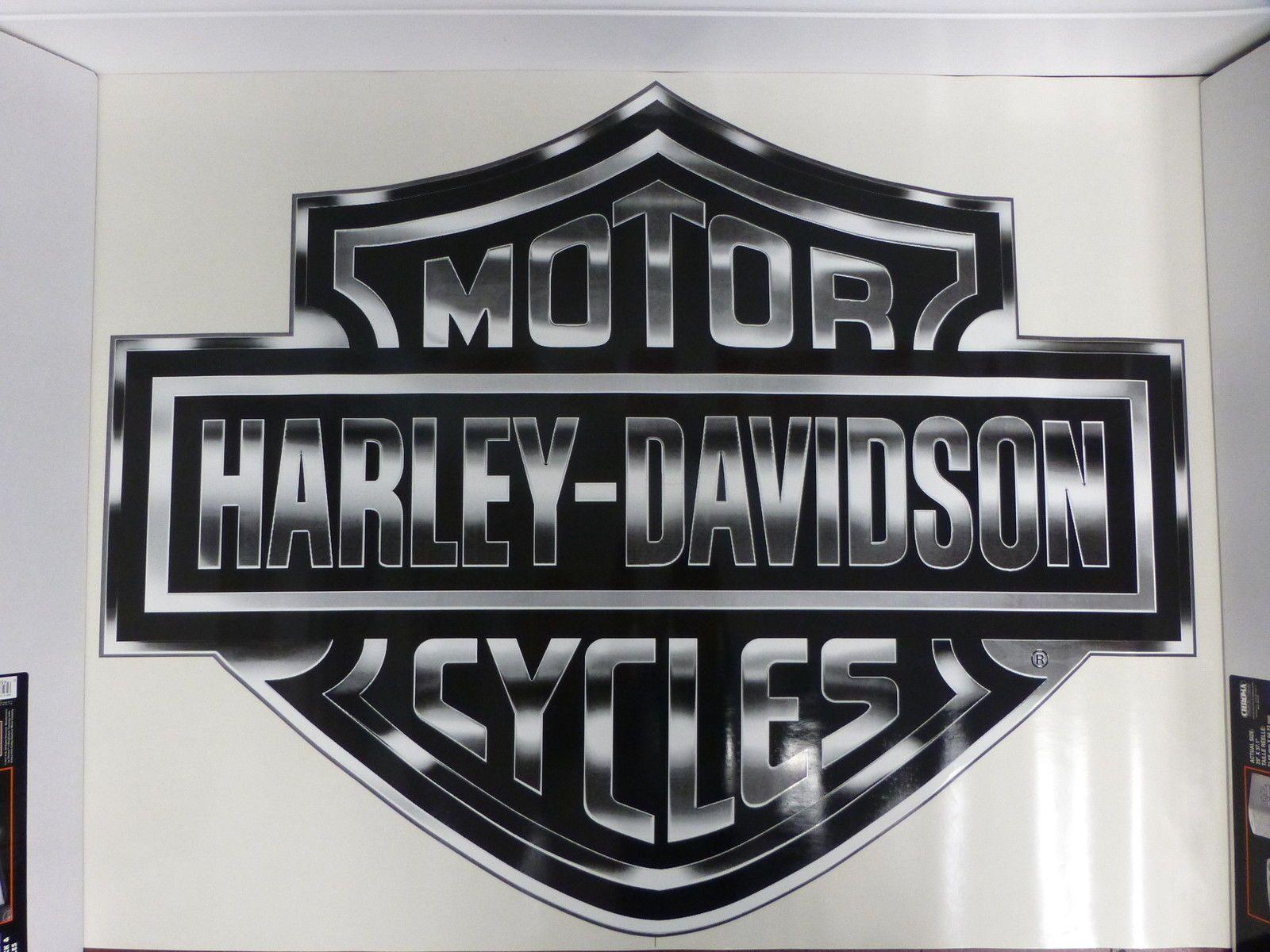 Harley Davidson Bar Shield Extra Large Trailer Decal Sticker New Harley Davidson Harley Decals Stickers [ 1200 x 1600 Pixel ]