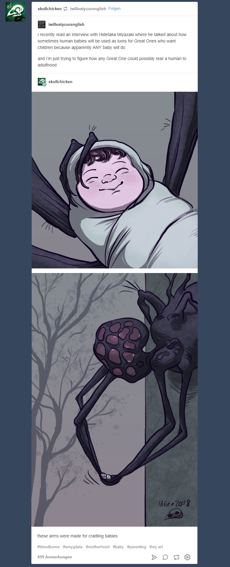 Amygdala Mama Comic By Skullchicken Maike Gerstenkorn Bloodborne