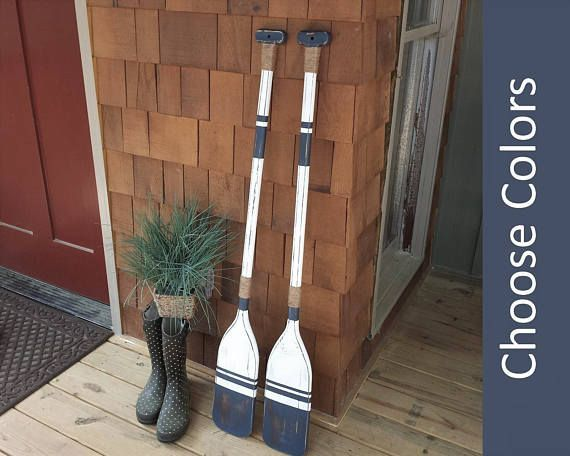 Wooden Oars Pair Of Decorative Painted Oar Decor